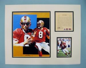San Francisco 49ers Steve Young 1997 Football 11x14 MATTED Kelly Russell Print