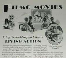 1929 Bell & Howell advertisement, Filmo Movie Camera model 70 & 75