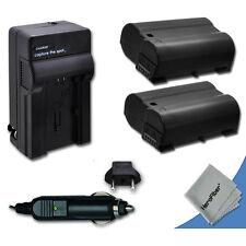 2 Nikon D7000 Batteries + Charger Replacement by Xit of Nikon EN-EL15 ENEL15