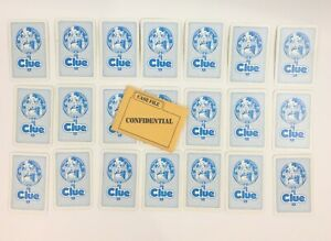 CLUE 1986 Board Game Replacement Pieces 6 Weapons BLUE Cards