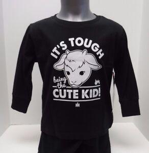 "Case IH ""Cute Kid"" Black Toddler Longsleeve Sizes 2T, 3T, 4T or 5T"