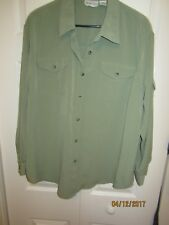 Women's Plus Size Apparenza Green Button Front Shirt ~ Size 20W