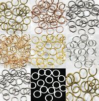 Wholesale 4/5/6/8/10/12/14mm Splits Loop Split Jump Ring Open Jump Rings Jewelry