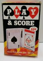 Vintage Playing Cards Deck Card Game with Travel Wallet Score Sheets In Box