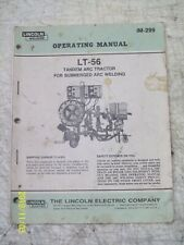 LINCOLN LT-56 OPERATING GUIDE MANUAL  IM-299 WELDING TRACTOR