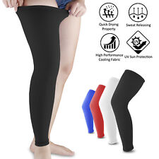 For Men Women Compression Leg Calf UV Sun Protection Sleeves Support Stockings