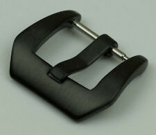 Matt black watch buckle Stainless Steel strap leather band pre v pam style SOLID