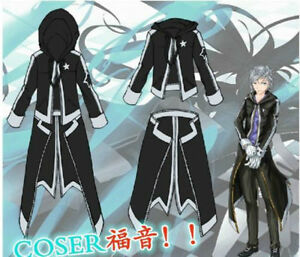 Top BRS black rock shooter Costume Cosplay Anime Jacket Cos Outfit Rare Hoodie
