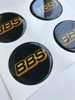 4 x 60mm BBS Autocollant Emblème pour jantes bouchons de roue Logo Decal