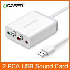 Ugreen External Stereo USB Sound Adapter with 3.5mm Aux Stereo and 2 RCA Mic PC