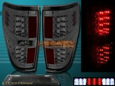 09-14 Ford F150 XL XLT STX FX4 Smoke Housing LED Tail Lights + 3rd Brake Light