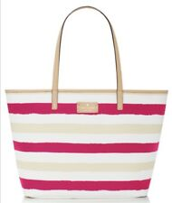 New Kate Spade Bondi Road Striped Harmony Tote, Pink/Cream NWT