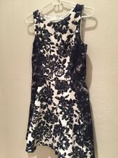 Women Elegant Beautifull Dress Blue White Floral Sleeveless 8 Jessica Simpson