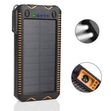 Waterproof 12000 mAh Portable Solar Charger Dual USB Battery Power Bank LED