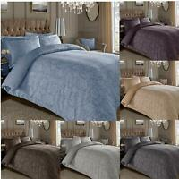Jacquard Duvet Cover 600 Thread Count Cotton Rich Floral with Oxford Pillowcases