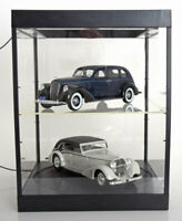 TRIPLE 9 DISPLAY SHOW CASE 2 TIER & TURNTABLE 1:18 SCALE GREAT 2X CAR DISPLAYS
