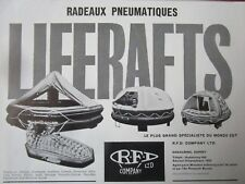 11/1962 PUB RFD SAFETY SURVIVAL LIFERAFT RADEAU PNEUMATIQUE SURVIE MER FRENCH AD