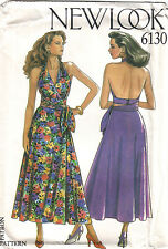FF Uncut 8-18 Backless Halter Neck Wrap Over Top & Skirt Sewing Pattern 6130