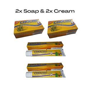 Chocho Natural Skin Soap & Cream Aloe Vera Blemishes Acne Spots Rash Ghana Creme