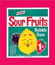 Sour Fruits Bubble Gum Leaf 1 Cent Vending Machine Sign