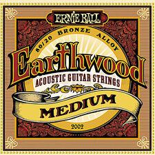 Ernie Ball 2002 Earthwood Acoustic 80/20 bronze Guitar Strings 13-56 medium