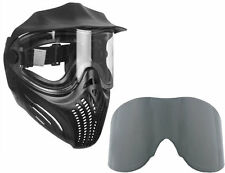Empire Helix paintball Mask/Goggles - Black + Smoke Thermal replacement lens