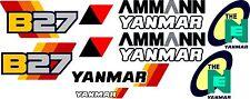 Yanmar B27 bagger-aufkleber-satz