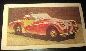 1957 TRIUMPH TR3 Sports Car  Australian Ampol Oil Swap Card