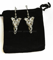 LOTR Lord Of The Rings Hobbit Arwen Silver EVENSTAR Earrings + Gift Bag