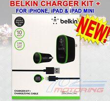 BELKIN F8J031TT04-BLK CHARGER KIT +  WALL / CAR KIT FOR iPHONE, iPAD, iPAD MINI
