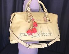 Coach XL Ashley Celery Green Leather Satchel Shoulder Handbag Tote Purse F15447