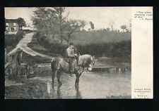 Warwickshire Warwicks YARDLEY WOOD Horse in ford 1905 PPC