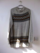 Unbranded vintage made in Pérou Pure Alpaca Motif Aztèque Long Pull Taille S