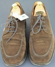 CHURCH'S Sz 11 M Brown Suede ENGLAND Benchmade Oxfords Split Toe Dress Shoes