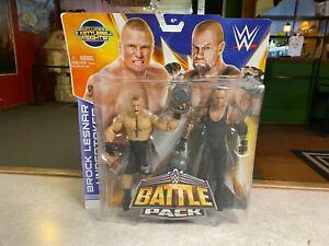 2014 Mattel WWE Wrestling Elite BROCK LESNAR & UNDERTAKER Battle 2 Pack MOC