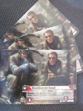 Shield Generator Assault x1 Promo Card Star Wars The Card Game LCG FFG