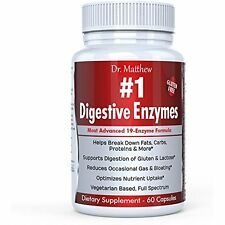 Best Digestive Enzymes With Amylase, Bromelain & Lipase - Reduce Gas, Bloating