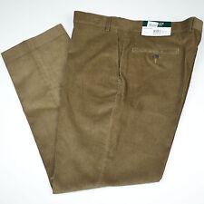 NWT RALPH LAUREN Flat Front Corduroy Tan Light Brown Cotton Pants Sz 40 x 30