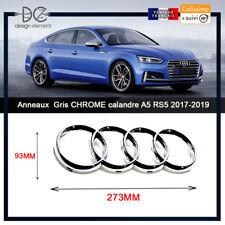 Anneaux Chrome pour calandre A4 A6 Q7 A5 S5 S6 RS5 Sportback 273x93 MM