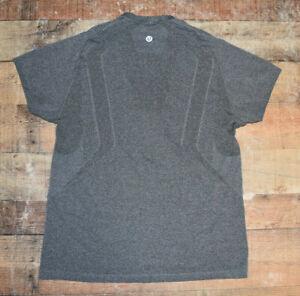 LULULEMON Men XL Metal Vent Tech Short Sleeve Heathered Gray EUC B50