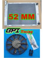 2 row 50mm HOLDEN COMMODORE VL RB30 ET L6 AT/MT aluminum radiator +FAN