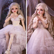 Full Set 60cm 1/3 BJD Doll Girl Toy Doll + Changeable Eyes + Dress Kid Xmas Gift