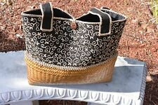 Women tote of hemp with native design
