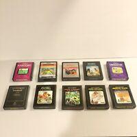 Lot of 10 Atari 2600 Games Dragonfire, Defender, Demons To Diamonds Good Cond.