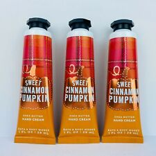 3-Pack Bath & Body Works SWEET CINNAMON PUMPKIN Mini Hand Cream Lotion 1 oz