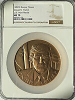 (2020) DONALD TRUMP 8.4 Oz U.S. MINT BRONZE MEDAL  NGC MS70  - Pop Only 98 💥