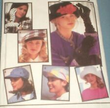 7932 Simplicity 3 Knit Shirred Elbow Wrist Glove Patterns Hats beret Brimmed cap