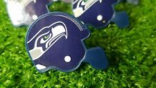 Seattle Seahawks Cupcake Toppers Rings Birthday Cake NFL Lot of 12 Mini Helmets