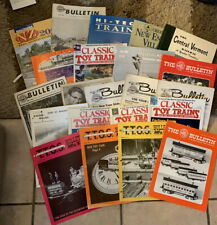 (Lot of 22) Vintage Railroad Model Magazines / Books Mixed Lot 60s-90's