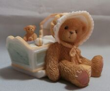 "CHERISHED TEDDIE ""AWAITING THE ARRIVAL "" 743801 MINT IN BOX WITH CERTIFICATE"